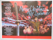 Merry Christmas Mr Lawrence, Original UK Quad Poster, David Bowie, '83